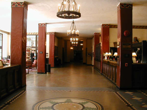The Ahwahnee Hotel, inspiration for The Overlook Hotel in Kubrick's The Shining.